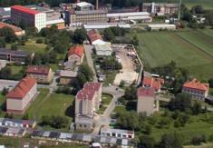 Letecké fotografie obce